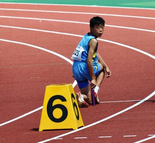 男子400mリレー1走
