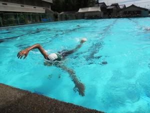 3年生の水泳記録会です。いいフォームですね。