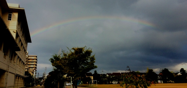 虹がきれいでした。9月26日(金)7:30