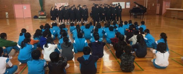 中学生の合唱を聴きました。